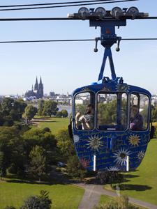 Köln von oben mit der Seilbahn. Tipp Hotel Viktoria